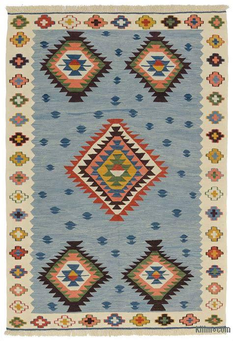 blue kilim rug k0012177 light blue beige new turkish kilim rug