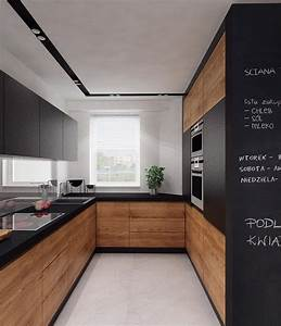 Cuisine en u ouverte pour tout espace 60 photos et for Petite cuisine équipée avec meuble de salle a manger contemporain