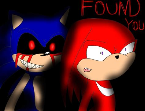 found you sonic exe and knuckles by xxchikara the wolfxx on deviantart