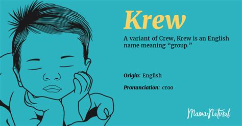 krew  meaning origin popularity boy names  krew
