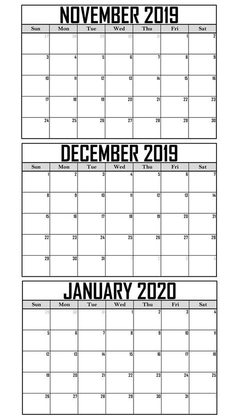 november   january  calendar template net