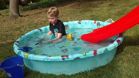 Little Tikes Slide, Plastic Swimming Pool, Animal Planet