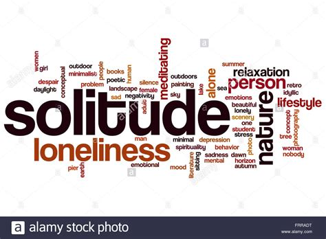 solitude word cloud concept   relaxation related