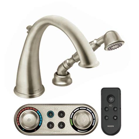 Moen Kingsley Faucet Brushed Nickel by Shop Moen Kingsley Brushed Nickel Touchless Adjustable
