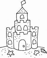 Castle Sand Coloring Clip Craft Crafts Sketch Sketchite sketch template