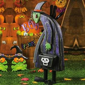 "41"" Wicked Witch Halloween Wooden Statuary: Christmas"