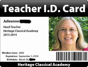 25 best ideas about card for teacher on pinterest With homeschool id card template