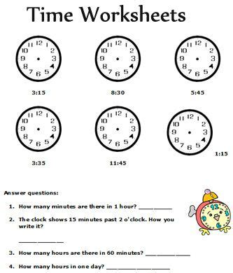 clock problems for 2nd grade show time math