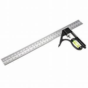 Adjustable 300mm Engineer Combination Try Square Set Right