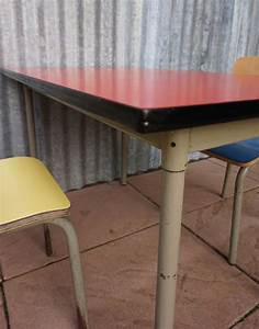 Vintage Children39s School Desk And Chairs Set By Willy Van