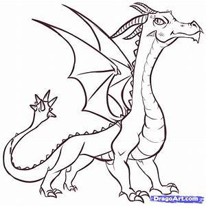 How to Draw Easy Dragons, Step by Step, Dragons, Draw a ...