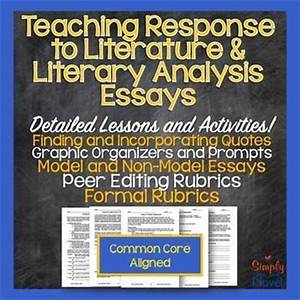 Literary Response Essay Take Online Class For Me Literary Response  Literary Response Analysis Essay Template English Essays Book also General Essay Topics In English  Essay On Business Management