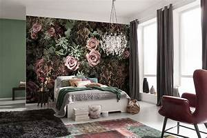 black and pink velvet roses paper wallpaper homewallmurals With markise balkon mit tapete pink