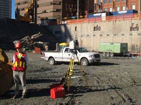 gridline pile  anchor bolt surveys challenger geomatics
