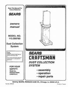 Craftsman 113 299780 User Manual