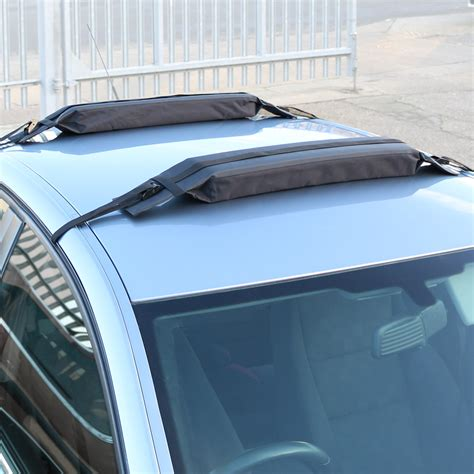 kayak roof rack for cars without rails pair of universal soft padded car roof bars luggage kayak