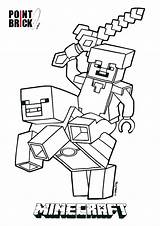 Minecraft Coloring Pages Pickaxe Printable Getcolorings sketch template