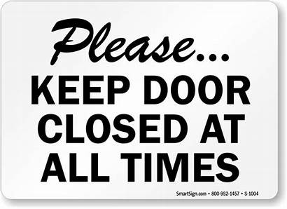 Door Closed Close Sign Clipart Keep Signs