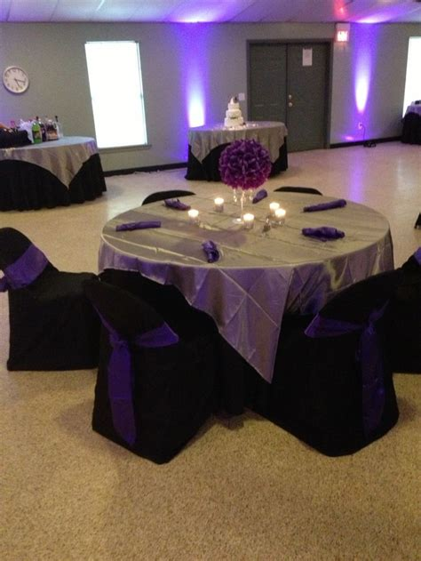 purple black silver table decoration this and that