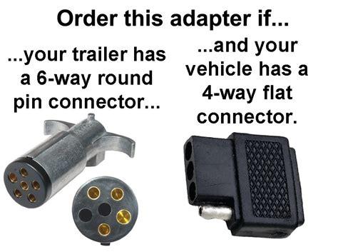 4 way flat to 6 way pin connector adapter adapters