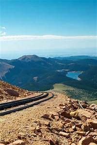 At an altitude of 14,115 feet above sea level, Pikes Peak ...