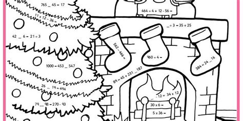 Multiplication Christmas Worksheets Color By Number
