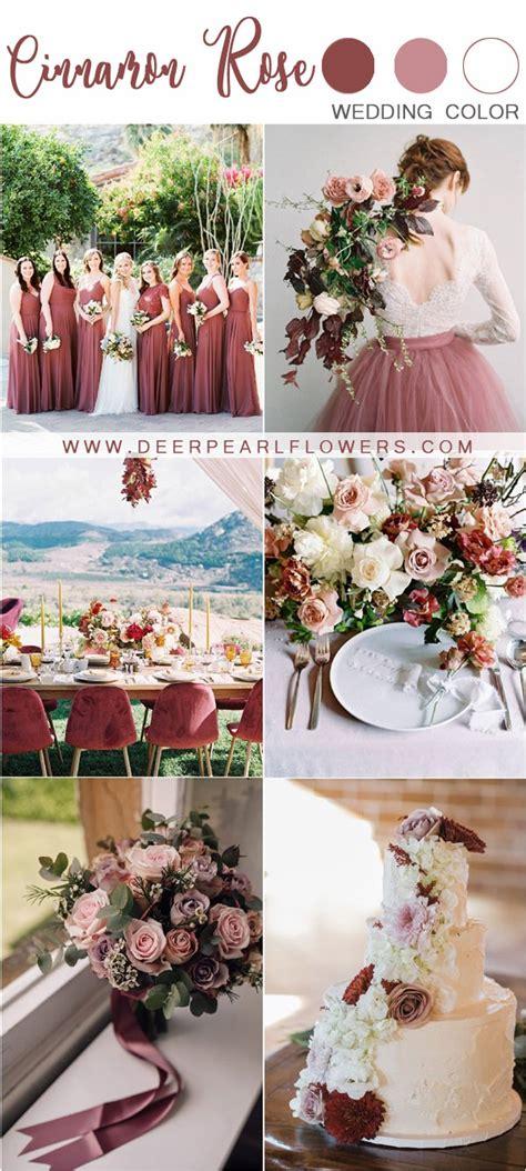 wedding color trends  cinnamon rose wedding color ideas