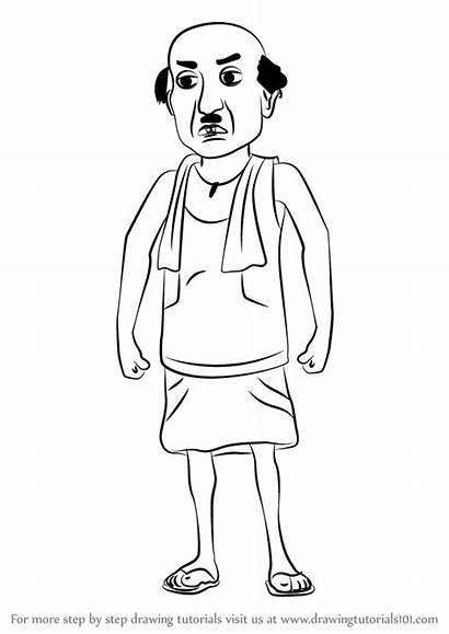 Motu Patlu Draw Chaiwala Drawing Colouring Step