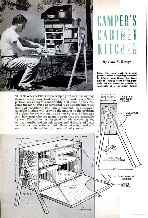 popular mechanics camper kitchen wood boat plans