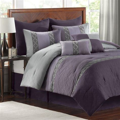 plum comforter set bed bath  master bed