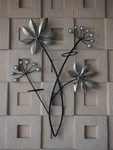 Decoration Murale Fleur : decoration murale metal luxe raffinement accueil design ~ Teatrodelosmanantiales.com Idées de Décoration