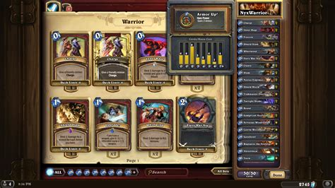 Warrior Hearthstone Deck by Hearthstone Top Decks Patron Warrior Wroc Awski
