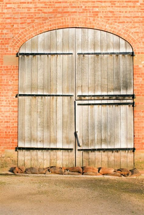 Large Barn Doors by How To Build A Large Wooden Barn Door Hunker