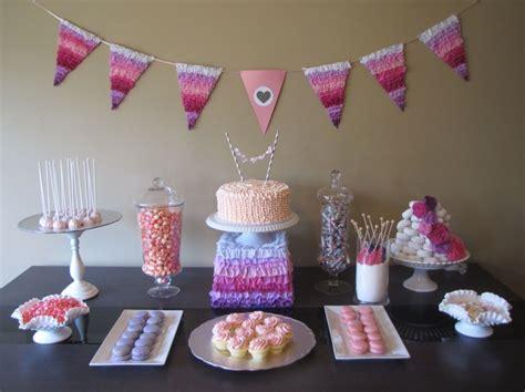 dessert table pretty  pink baby shower
