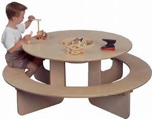 Table Enfant Bois : table de jeux ronde en bois jeu d 39 enfant ~ Teatrodelosmanantiales.com Idées de Décoration