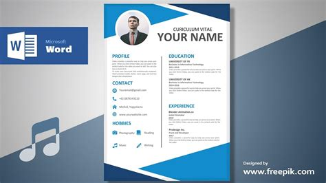 Resume Design by Awesome Clean Resume Designing In Microsoft Word Musical