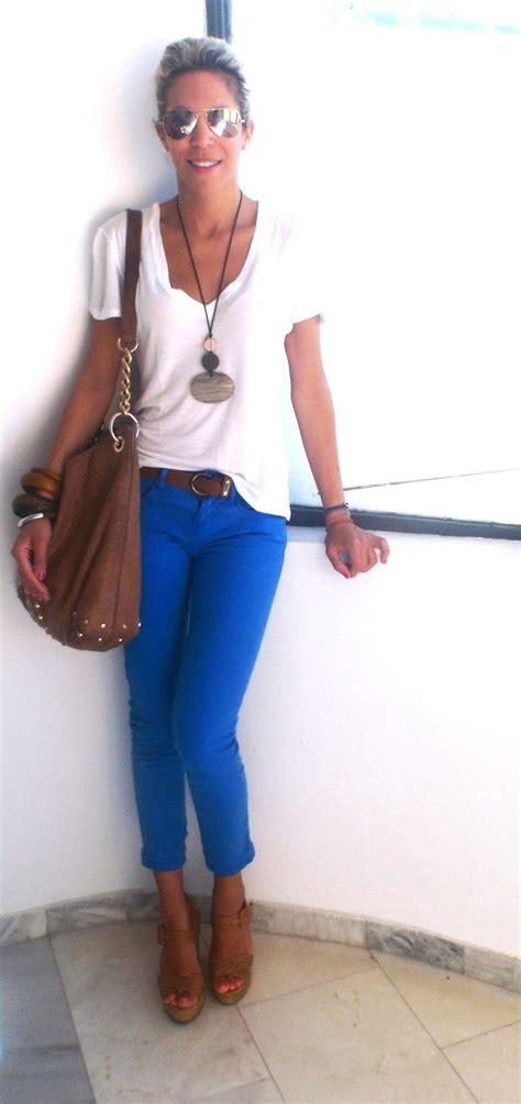 17 Best images about Jeans bleu cobalt on Pinterest | Cobalt blue Pants and Cobalt blue pants