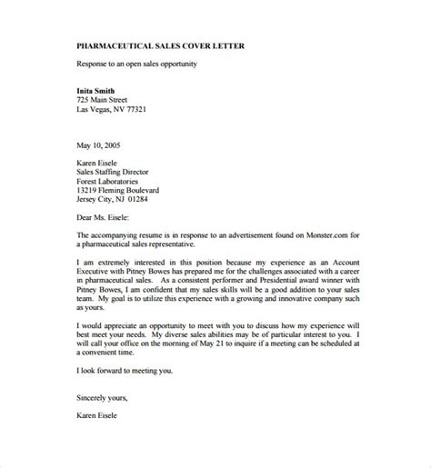 Cover Letter Sles by 11 Sales Cover Letter Templates Free Sle Exle