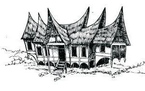 sketsa rumah gadang minangkabau  scientific diagram