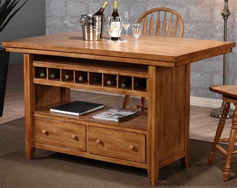 seasons rustic oak kitchen island  eci furniture