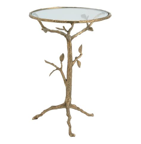 tree branch table l sherwood sculpted tree branch antique brass side table s