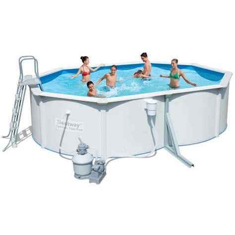 piscine acier ovale hydrium pas cher soldes piscine manomano ventes pas cher
