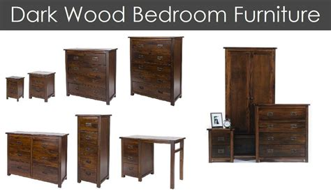dark wood brown bedroom furniture set antique pine