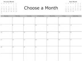 Simple Monthly Calendar Printable