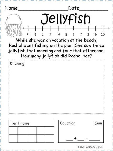 addition to 10 worksheets with number line number line