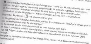 Lotto Wahrscheinlichkeit Berechnen Stochastik : stochastik stochastik wahrscheinlichkeit bei einer lottoziehung 6 aus 49 vier richtige ~ Themetempest.com Abrechnung