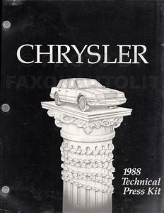 1988 Rwd Car Repair Shop Manual Original Fifth Avenue