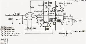 Scematic Diagram  5200 1943 Mosfet 200 200 Watt Ample Ckt
