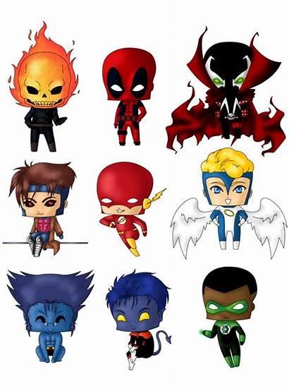 Chibi Heroes Super Superhero Marvel Superheroes Dc