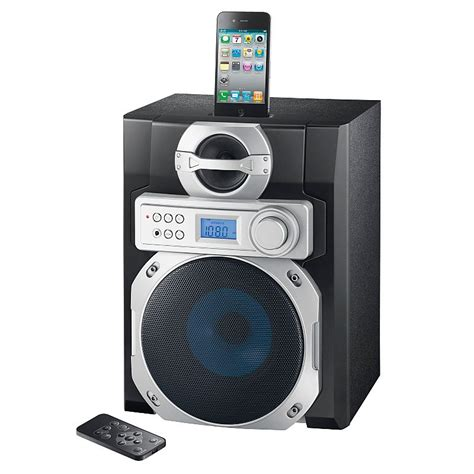 ipod docks with speakers on ebay as1663if polaroid ipod dock speaker system with fm radio built in subwoofer ebay